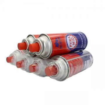 Straight and Round Shape Portable butane gas cartridge made in china