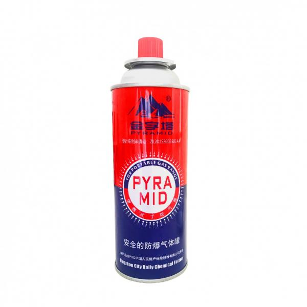 portable stove butane gas empty cans and empty aerosol container