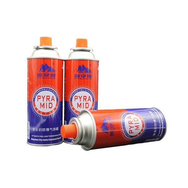 Butane gas cartridge cans with camping fuel gas cans and camping appliance cans net weight 220g