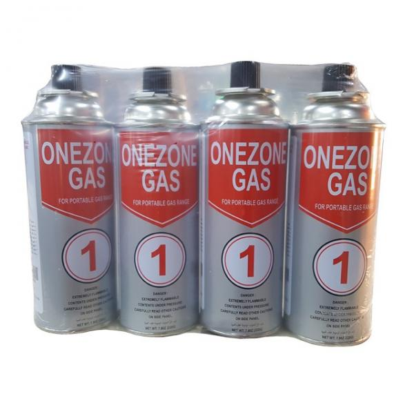 227g Round Shape Straight Wall Aerosol Tinplate Can Butane Gas Container