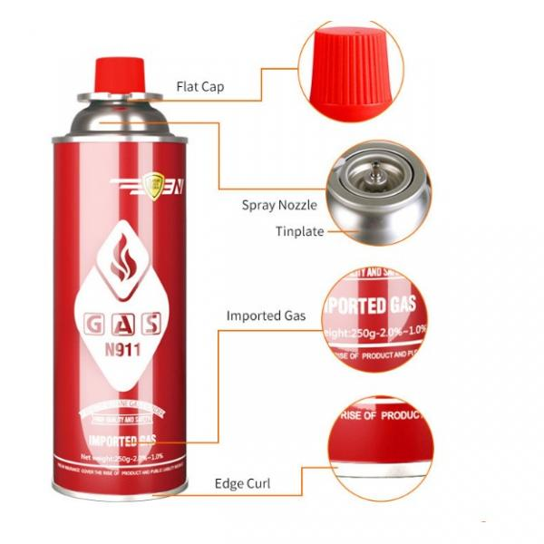 190gr for camping stove Butane Gas Aerosol Can for portable cartridge